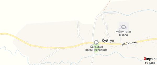 Улица 60 лет Октября на карте села Куйтуна с номерами домов