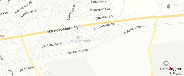 Территория ДНТ Авиаторов на карте Улан-Удэ с номерами домов