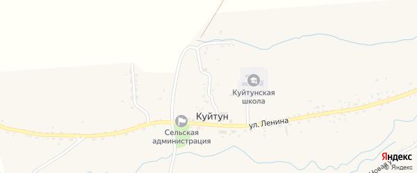 Солнечная улица на карте села Куйтуна с номерами домов
