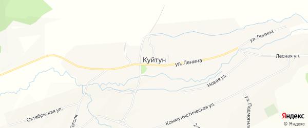 Карта села Куйтуна в Бурятии с улицами и номерами домов