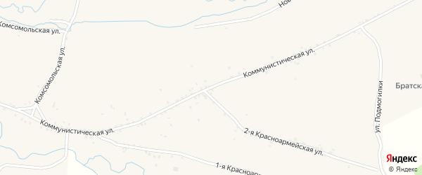 Коммунистическая улица на карте села Куйтуна с номерами домов