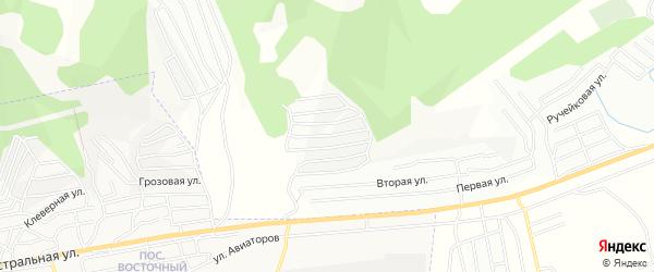 Территория СНТ Авиатор на карте Улан-Удэ с номерами домов