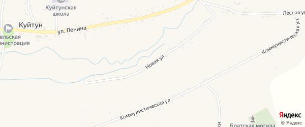 Новая улица на карте села Куйтуна с номерами домов