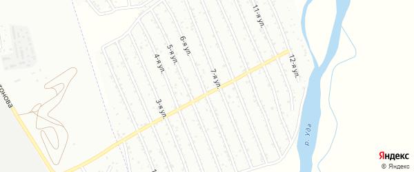 Вторая улица на карте СНТ Восхода с номерами домов
