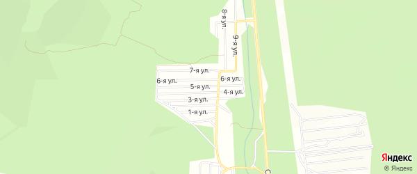 Дачное некоммерческое партнерство ДНТ Березка 10-е на карте Николаевского поселка с номерами домов