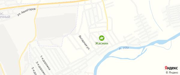Карта поселка ДНТ Багульника в Бурятии с улицами и номерами домов