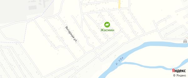 Улица Яшина на карте территории ДНТ Молодежного с номерами домов