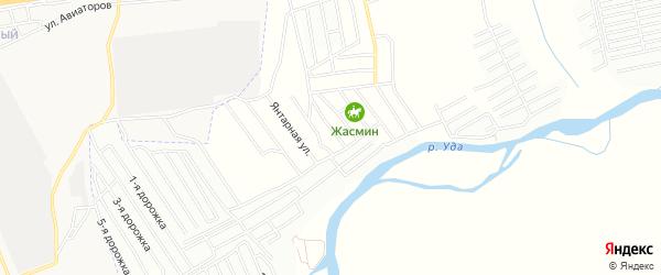 Территория ДНТ Молодежный на карте Улан-Удэ с номерами домов