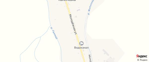 Молодежная улица на карте села Калиновки с номерами домов