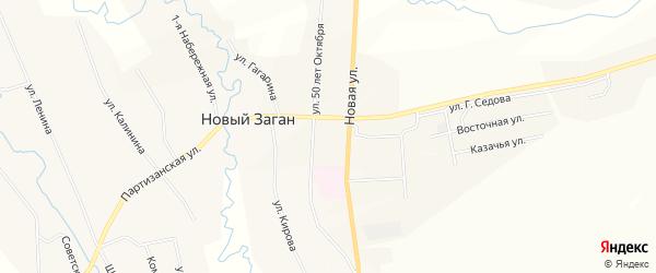 Карта села Старого Загана в Бурятии с улицами и номерами домов