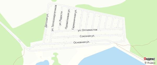 Квартал 15 на карте СНТ Тепловика с номерами домов