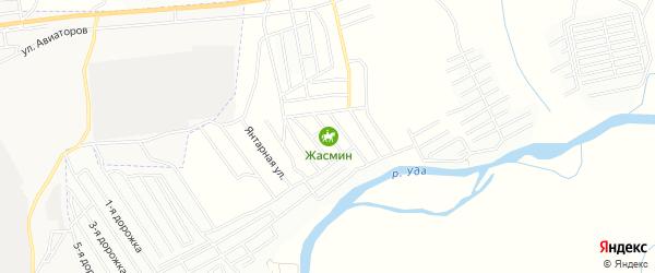 Территория ДНТ Загородная Резиденция на карте улуса Дабата с номерами домов