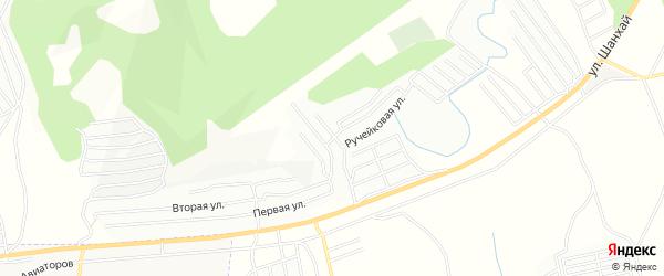 Карта СНТ Ручейка в Бурятии с улицами и номерами домов