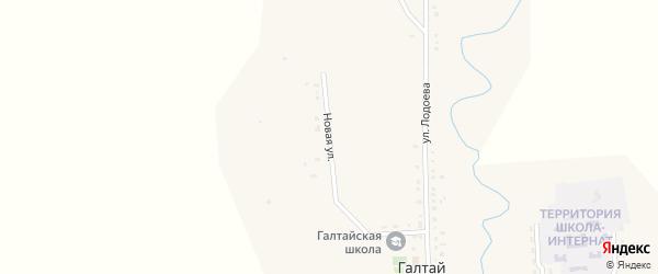 Новая улица на карте улуса Галтая с номерами домов