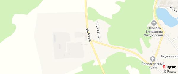 Улица Мира на карте Николаевского поселка с номерами домов