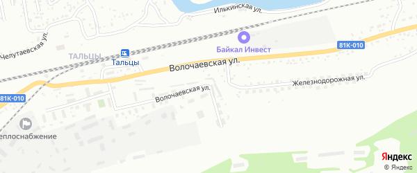 Волочаевская улица на карте Улан-Удэ с номерами домов