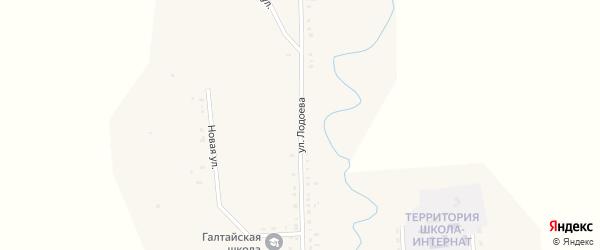 Улица Лодоева на карте улуса Галтая с номерами домов