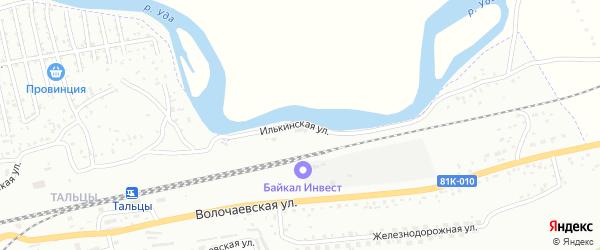 Илькинская улица на карте Улан-Удэ с номерами домов