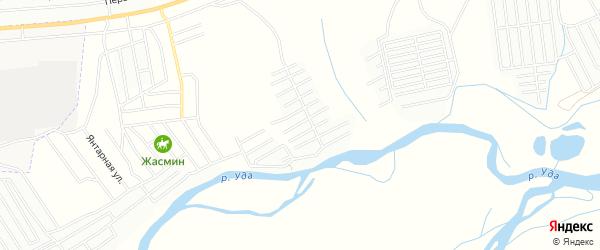 Карта поселка ДНТ Востока в Бурятии с улицами и номерами домов
