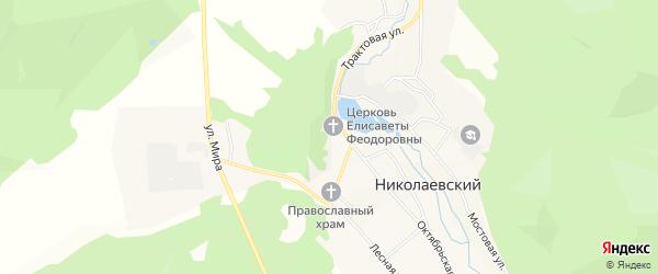 Местность Малиновый лог на карте Николаевского поселка с номерами домов