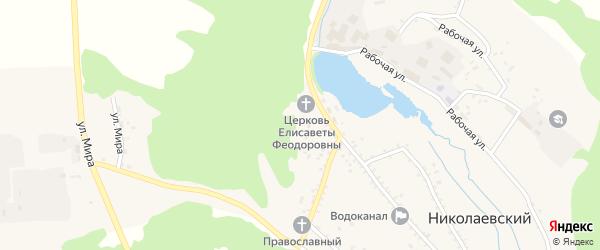 Счастливая улица на карте Николаевского поселка с номерами домов