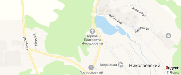 Улица Щебеночный карьер на карте Николаевского поселка с номерами домов