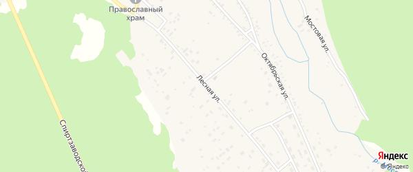 Лесная улица на карте Николаевского поселка с номерами домов