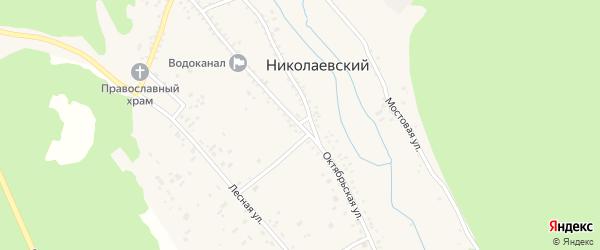 Октябрьская улица на карте Николаевского поселка с номерами домов