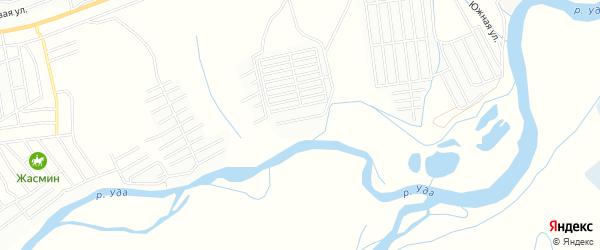 Территория СНТ Черемушки на карте Улан-Удэ с номерами домов