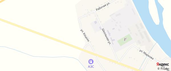 Улица Коцких на карте села Малого Куналея с номерами домов