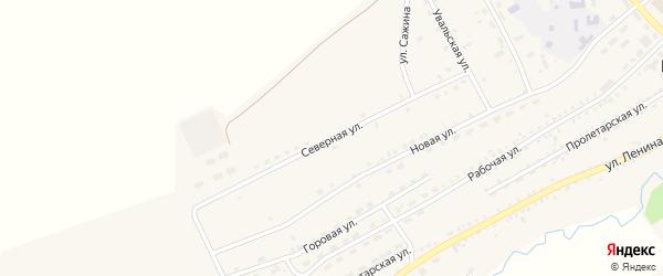 Северная улица на карте села Мухоршибири с номерами домов