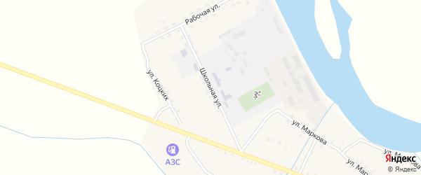 Школьная улица на карте села Малого Куналея с номерами домов