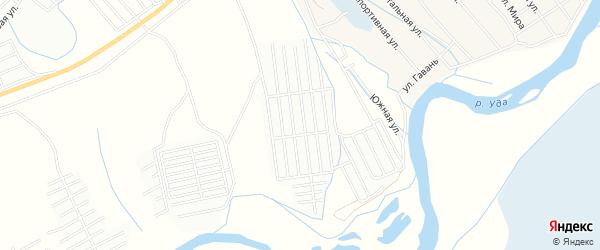 Карта СНТ Автодорожника в Бурятии с улицами и номерами домов