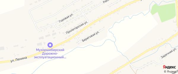 Береговая улица на карте села Мухоршибири с номерами домов