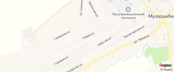 Новая улица на карте села Мухоршибири с номерами домов