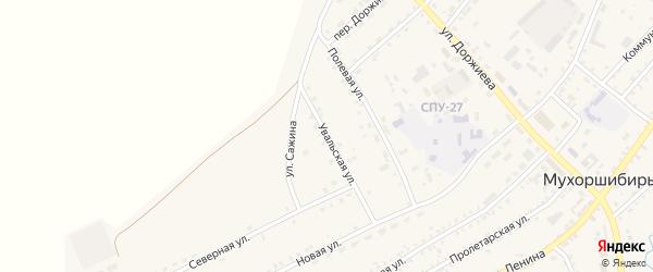 Увальская улица на карте села Мухоршибири с номерами домов