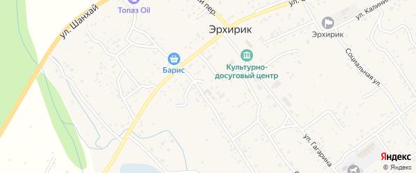 Переулок Ленина на карте села Эрхирик с номерами домов