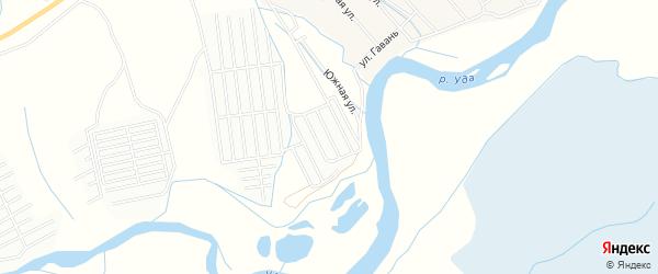 Карта СНТ Самородка в Бурятии с улицами и номерами домов