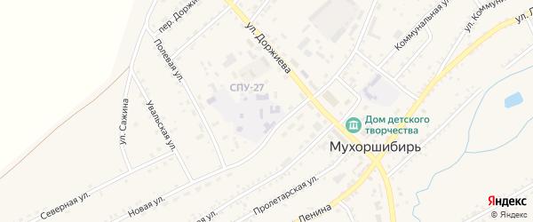 Территория СПТУ-27 на карте села Мухоршибири с номерами домов