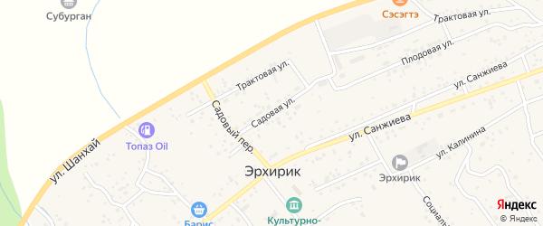 Садовая улица на карте села Эрхирик с номерами домов