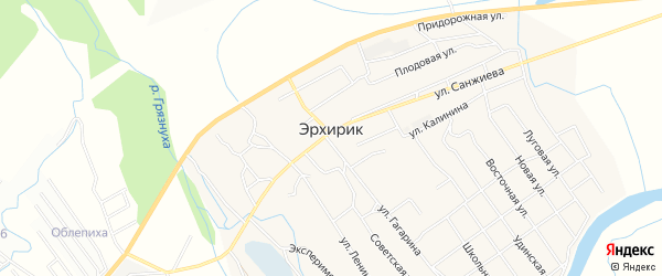 СТ Черемушки-3 на карте села Эрхирик с номерами домов