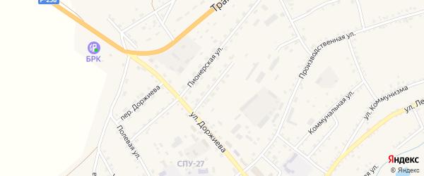 Комсомольская улица на карте села Мухоршибири с номерами домов