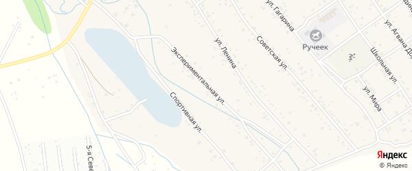 Экспериментальная улица на карте села Эрхирик с номерами домов
