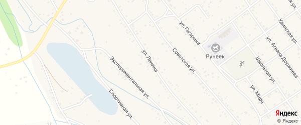 Улица Ленина на карте села Эрхирик с номерами домов