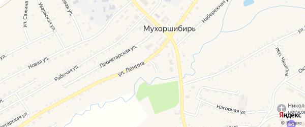 Аптечный переулок на карте села Мухоршибири с номерами домов