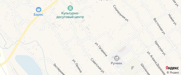 Улица Гагарина на карте села Эрхирик с номерами домов