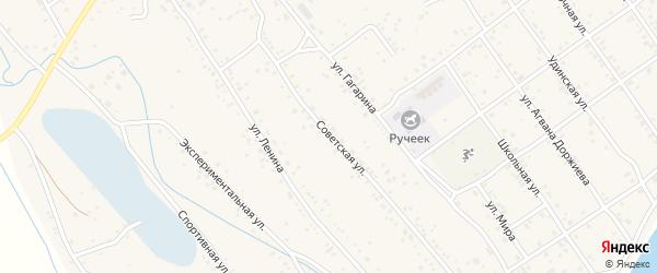 Советская улица на карте села Эрхирик с номерами домов
