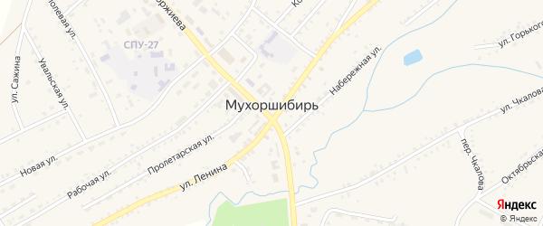 Южная улица на карте села Мухоршибири с номерами домов