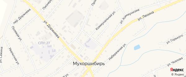 Коммунальный переулок на карте села Мухоршибири с номерами домов