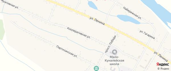 Улица Плюснина на карте села Малого Куналея с номерами домов